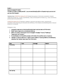 SLP Strategies based on Common Core Standards Grades 7-12