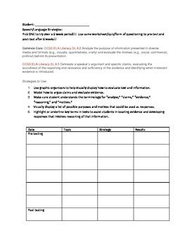 SLP Strategies based on Common Core Standards Grades 7-12