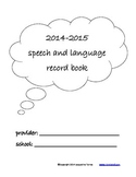 Speech Language Record Book 2014-2015