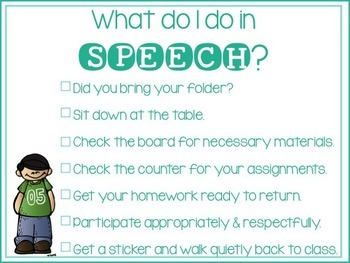 Speech & Language Rules/Procedures Checklist
