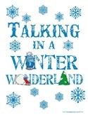 Speech/Language  SLP Room Door Winter Decoration