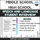 Speech & Language Student Interview for IEP Meetings