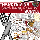 Speech & Language Thanksgiving Bundle
