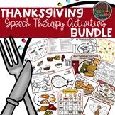 Speech & Language Thanksgiving Bundle
