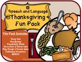 Speech & Language Thanksgiving Dinner Fun Pack