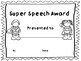 Speech-Language Therapy Award Certificates (End of year/end of therapy block)