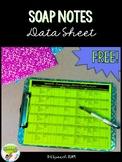 SOAP Notes Data Sheet for SLP