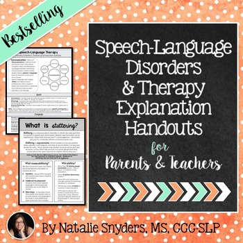 what is speech and language disorder