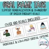 Speech/Language Therapy Goal Name Plates