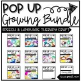 Speech and Language Pop Up Craft Activity Units Bundle #oc