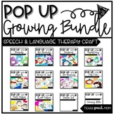 Speech and Language Pop Up Craft Activity Units Bundle #oc