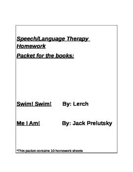 Speech Language Therapy Homework Book Bundle