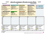 Speech-Language Therapy Lesson Plans Template