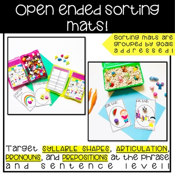 Speech Therapy Sorting Mats: Mini Objects phrases (articulation, language)