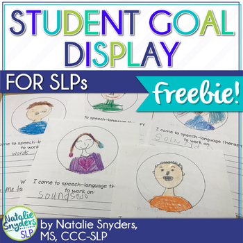 Speech Language Therapy Student Goal Display FREEBIE