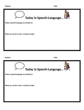 Speech-Language Therapy Update