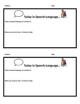 Speech-Language Therapy Update