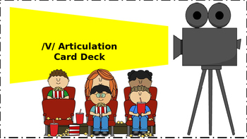 Speech-Language Therapy: /v/ Articulation Card Deck