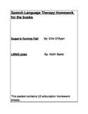 Speech Language Thereapy Homework Book Bundle