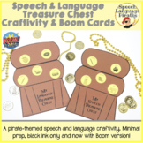 Speech & Language Treasure Chest Craftivity & Boom Cards