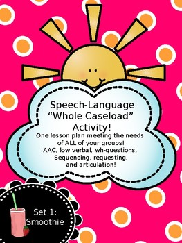 Speech Full Caseload Plans: AAC, sequencing, social, questions, artic, and more!