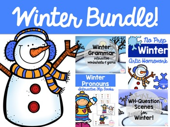 Speech & Language Winter Bundle