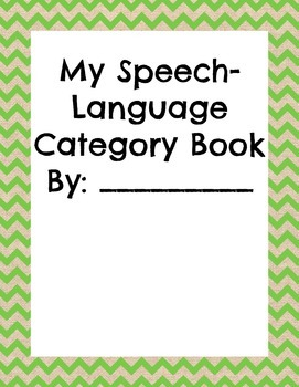 Speech-Language and Language Arts Category Book
