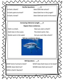 Clark the Shark - Speech, Language and Literacy All-in-One