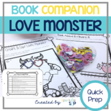 Love Monster Book Companion:  Speech and Language Therapy