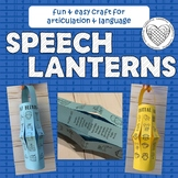 Speech Lanterns craft for articulation & language therapy