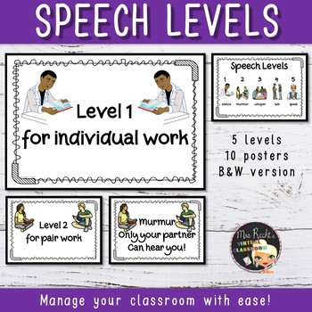 Voice Level Posters Classroom Management Strategy