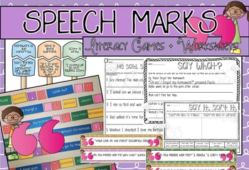 Speech Mark Games and Worksheets