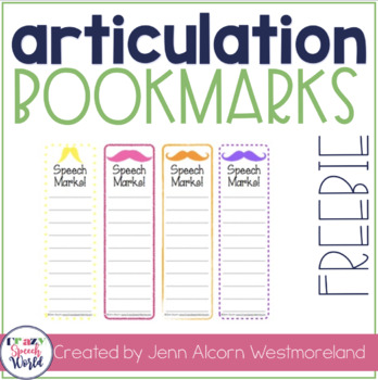 Speech-Marks! Carryover Bookmarks for Speech Therapy {Freebie}