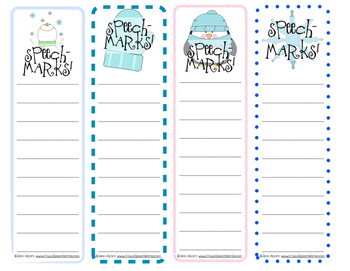 Speech Bookmarks! Year Round Carryover for Speech Therapy