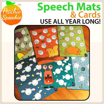 Speech Mats and Cards (Great for  play dough or markers!)