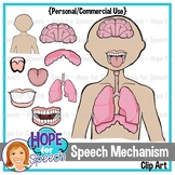 Speech Mechanism Clip Art {Hope for Speech}