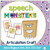 Speech Monsters: Articulation Sort, Craft, & Activity