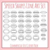 Speech Mouths - Sounds Phonemes Line Art Clip Art Commercial Uses