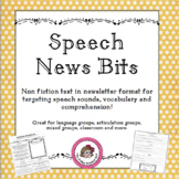 Speech Therapy Non Fiction Text Articles for Articulation and Vocabulary
