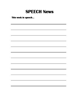 Speech News Letter