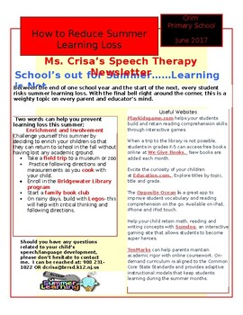 Speech Newsletter