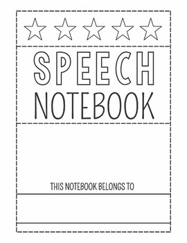 Free Speech Notebook Cover Pages!