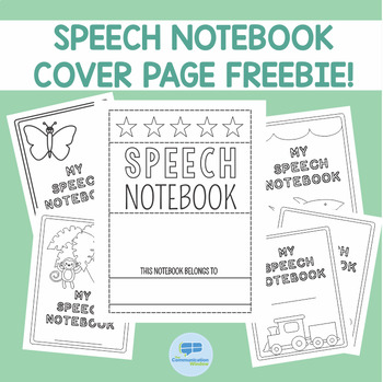 Speech Notebook Cover Page Freebie!