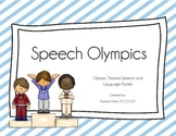 Winter Speech Olympics: A Speech and Language Activity Packet