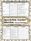 SPED Speech Only IEP Teacher Interview re: Student Support ~ #dec2017slpmusthave