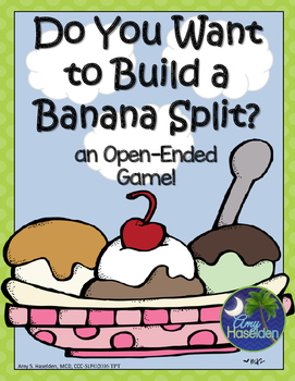 Speech Therapy Game Building a Banana Split