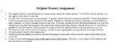 Speech: Original Oratory Assignment sheet and rubric