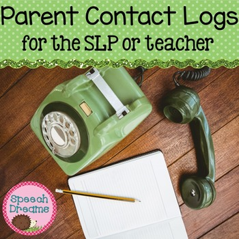 Parent Contact Log FREE {Speech Therapists or Classroom Teachers}