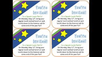 Speech Party Invitations