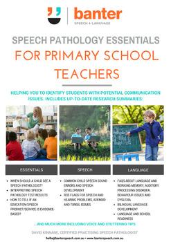 Speech Pathology Essentials for Primary School Teachers